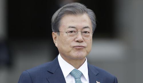 Tổng thống Hàn Quốc Moon Jae-in. Ảnh: AP.