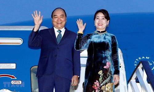 Thủ tướng Nguyễn Xuân Phúc và phu nhân. Ảnh: TTXVN.