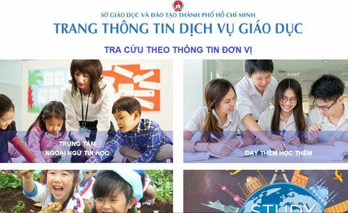 Giao dịch trang thông tin dịch vụ giáo dục TP HCM. Ảnh: Sở Giáo dục và Đào tạo TP HCM.