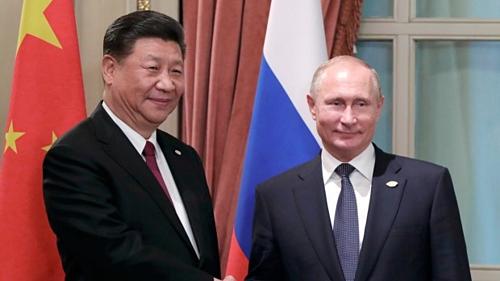 Chủ tịch Trung Quốc Tập Cận Bình và Tổng thống Nga Vladimir Putin tại thượng đỉnh G20 ở Argentina năm 2018. Ảnh: AP