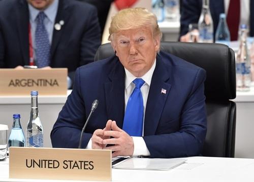 Tổng thống Mỹ Donald Trump tại hội nghị thượng đỉnh G20 ở Osaka, Nhật Bản hôm nay. Ảnh: Reuters.