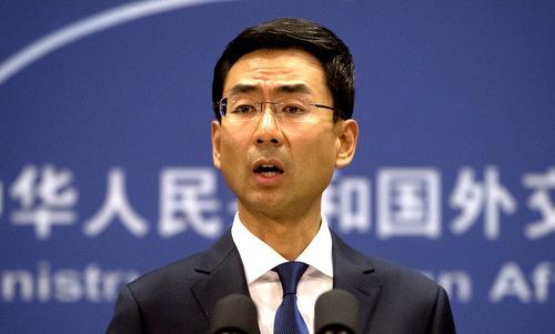 Người phát ngôn Bộ Ngoại giao Trung Quốc Cảnh Sảng. Ảnh: Xinhua.