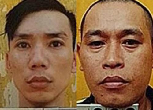 Huy Nấm độc (trái) và Nguyễn Văn Nưng. Ảnh: Công an cung cấp.