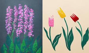 Cách vẽ tranh sáng tạo từ những vật dụng trong nhà