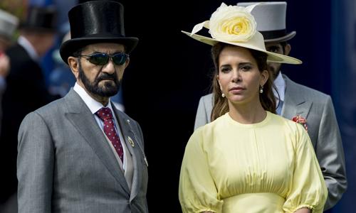 Thủ tướng Sheikh và vợ Haya. Ảnh: AFP.
