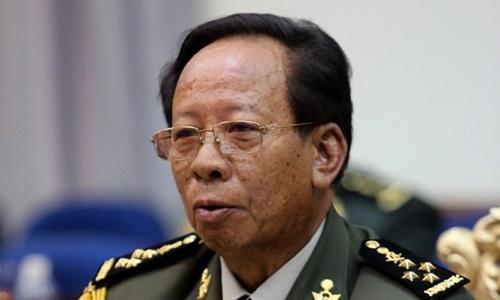Bộ trưởng Quốc phòng Campuchia Tea Banh. Ảnh: Khmer Times.