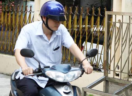 Bị can Vũ Trọng Lương trước khi bị bắt.