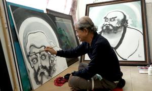 Họa sĩ vẽ tranh Phật giáo nhiều nhất Việt Nam