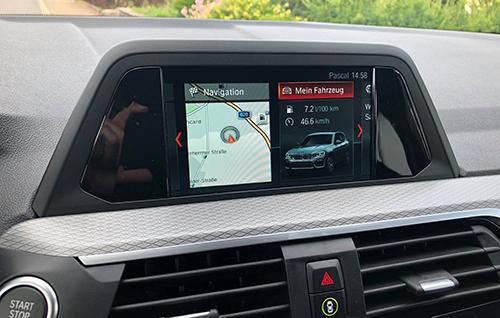 Hệ thống dẫn đường trên BMW X3 G01.