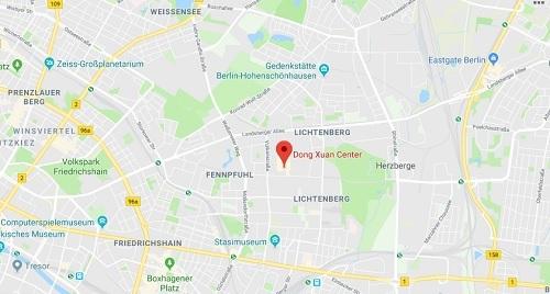Vị trí chợ Đồng Xuân tại Berlin. Ảnh: Google Maps.