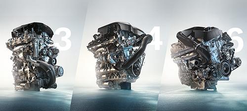 Khối động cơ 3,4 và 6 xi-lanh ứng dụng công nghệ BMW TwinPower Turbo.