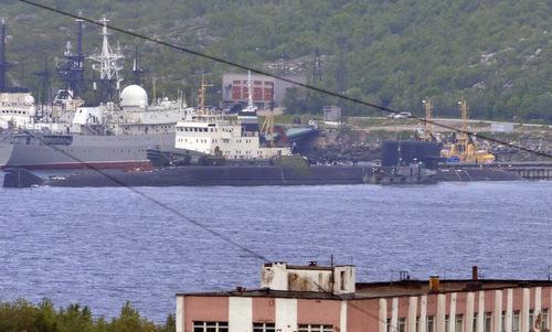 Tàu ngầm BS-64 Podmoskovye tại cảng Severomorsk hôm 3/7. Ảnh: Twitter.