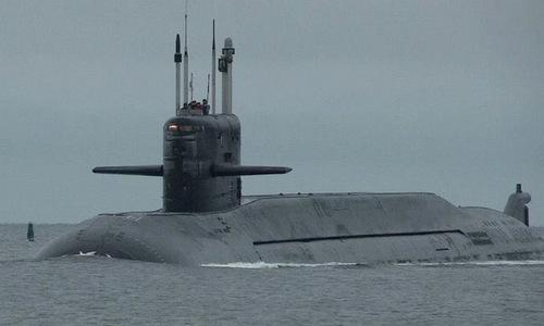 Tàu ngầm Podmoskovye trở về cảng sau một chuyến thứ nghiệm năm 2018. Ảnh: Twitter.