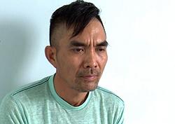 Phạm Hoà Lon tại cơ quan công an. Ảnh: An Bình