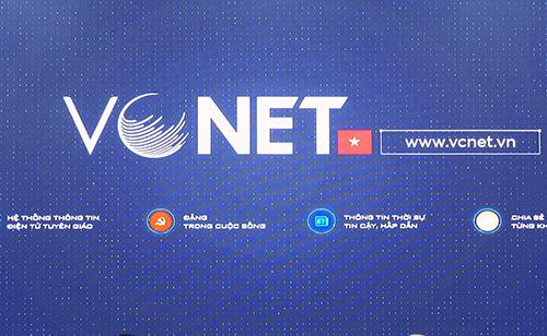 Hệ thống thông tin điện tử Tuyên giáo (VCNET) ra mắt hôm 11/6.