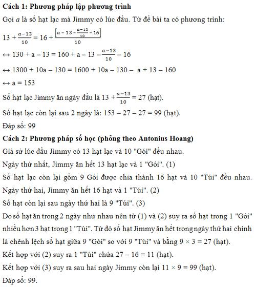 Đáp án bài toán đếm hạt lạc trong kỳ thi TIMC 2016 - 1