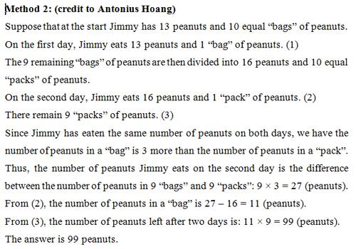 Đáp án bài toán đếm hạt lạc trong kỳ thi TIMC 2016 - 3