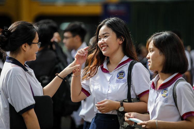 Thí sinh dự thi THPT quốc gia 2019 tại TP HCM. Ảnh: Thành Nguyễn.