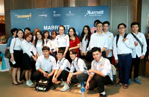 Sinh viên chuyên ngành Quản trị nhà hàng - khách sạn SIU tham dự ngày hội việc làm do tập đoàn khách sạn Marriott International tổ chức.
