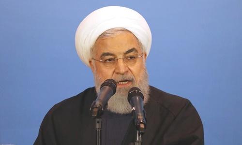 Tổng thống Iran Hassan Rouhani tại Iraq hồi tháng ba. Ảnh: Reuters.