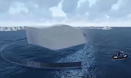 Núi băng trôi có thểcung cấp nước uống và thúc đẩy du lịch ở UAE. Ảnh: Sun.