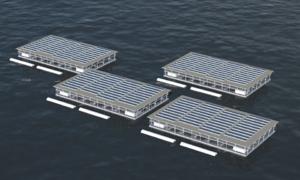 Trang trại nổi tự sản xuất ra điện để trồng rau, nuôi cá