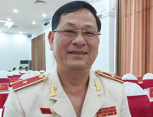 Thiếu tướng Nguyễn Hữu Cầu. Ảnh: Nguyễn Hải.
