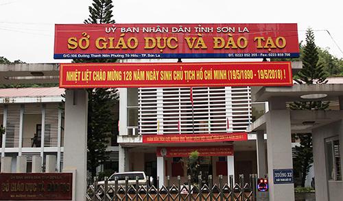Sở giáo dục và Đào tạo Sơn La, nơi xảy ra bê bối điểm thi năm 2018. Ảnh: Dương Tâm.