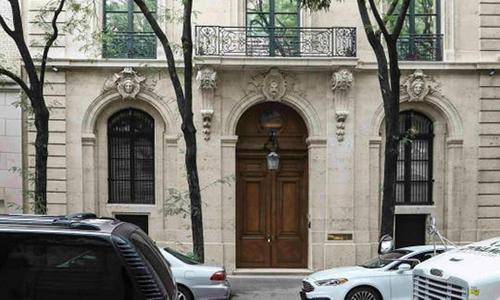Dinh thự trị giá khoảng 55 triệu USD của Epstein ở Mahattan, New York, Mỹ. Ảnh: AP.