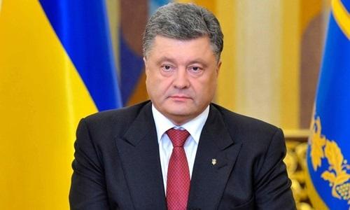 Cựu tổng thống UkrainePetro Poroshenko. Ảnh: Reuters.