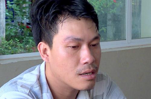 Nguyễn Văn Trường tại trụ sởcông an. Ảnh: Quang Bình.