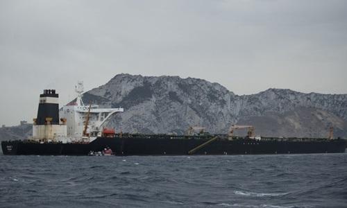 Tàu chở dầu Grace 1 ngoài khơi Gibraltar hôm 6/7. Ảnh: AFP.