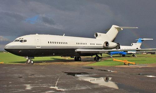 Chiếc Boeing 727-200 mà Epstein bị cáo buộc tổ chức tiệc sex với trẻ vị thành niên. Ảnh: Airport data