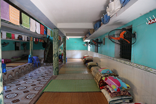Một góc buồng giam ở trại giam Ngọc Lý (Bắc Giang). Ảnh: Phạm Dự.