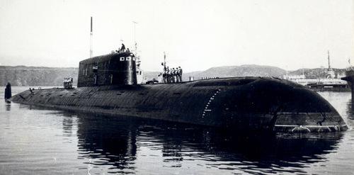 Tàu ngầm K-278 trước một chuyến thử nghiệm trên biển. Ảnh: Topwar.
