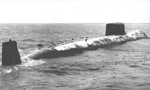Tàu ngầm Komsomolets ra biển thử nghiệm năm 1985. Ảnh: Topwar.