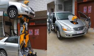 Người đàn ông Trung Quốc chế tạo ôtô biến hình thành robot