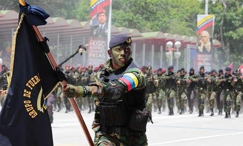 Một đơn vị đặc nhiệm của quân đội Venezuela. Ảnh: Al Jazeera.