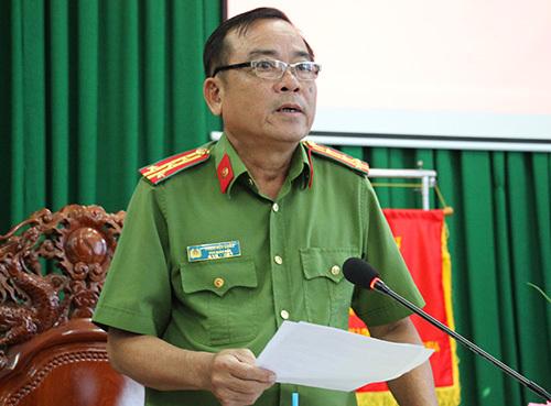 Đại tá Phạm Hữu Châu, Phó giám đốc Công an Long An. Ảnh: Hoàng Nam.