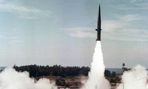 Tên lửa đạn đạo tầm trungMGM-31 Pershing II của Mỹ. Ảnh: Military.
