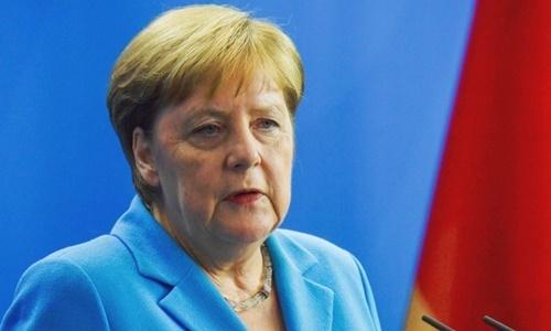 Thủ tướng Đức Angela Merkel tại Berlin ngày 10/7. Ảnh:AFP.