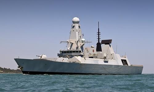 HMS Duncan trong một cuộc tập trận của NATO ở Biển Đen năm 2017. Ảnh: Hải quân Anh.