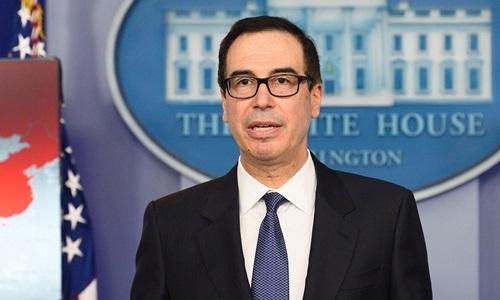 Bộ trưởng Tài chính Mỹ Steven Mnuchin. Ảnh: AFP.