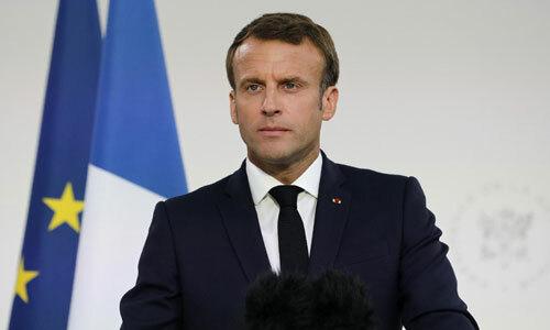 Tổng thống Pháp Emmanuel Macron phát biểu hôm 13/7. Ảnh: AFP.