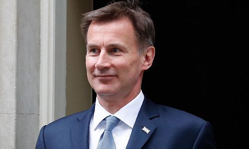 Ngoại trưởng Anh Jeremy Hunt sau cuộc họp tại Văn phòng Thủ tướng Anh ở số 10 phố Downing, London hôm 11/6. Ảnh:AP.