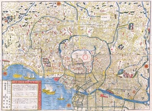 Bản đồ hệ thống kênh rạch và sông ngòi thời Edo năm 1849. Ảnh: CPC Collection.