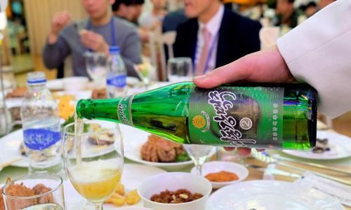 Một chai bia Taedonggang của Triều Tiên. Ảnh: SCMP.