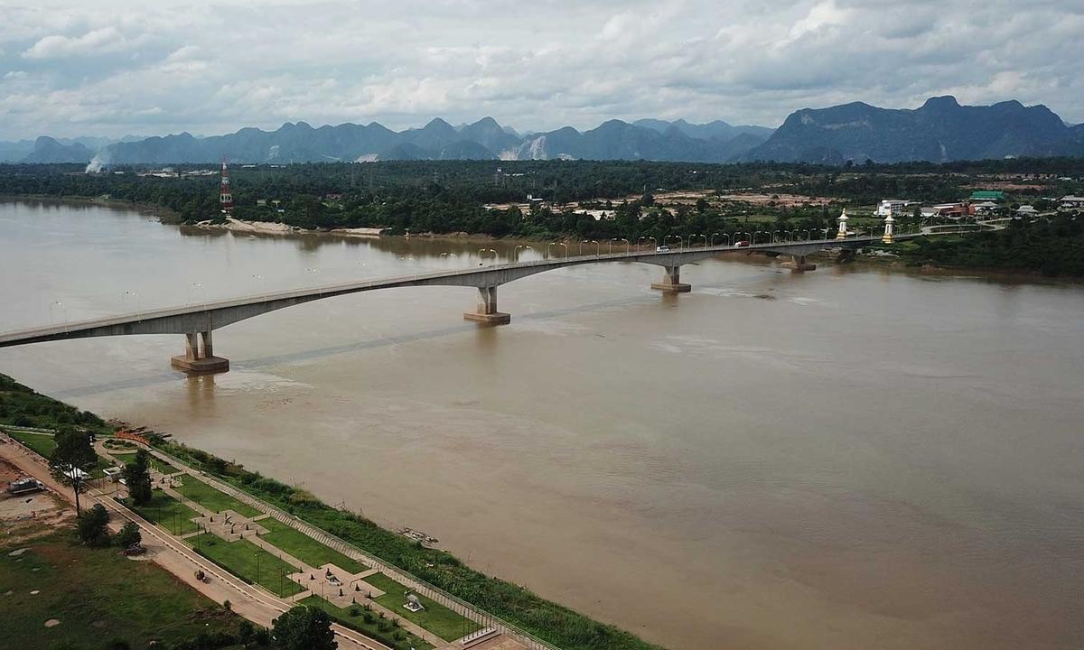 Nước sông Mekong ở Thái Lan xuống thấp nhất trong 10 năm