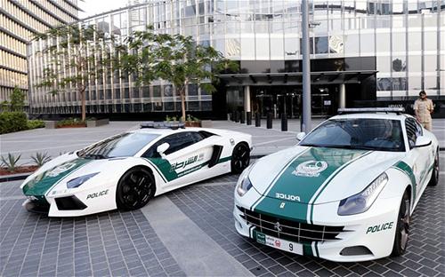 Siêu xe của cảnh sát Dubai. Ảnh: Telegraph