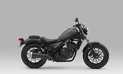 Phiên bản Rebel 300 màu đen xám mới.